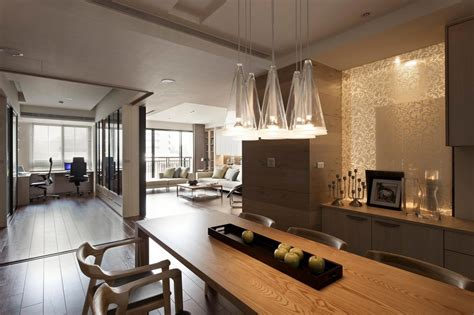 Apartment Interior Ideas Apartment With Kitchen Living And Office Interior Design Mag