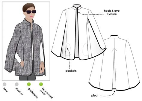 pattern review com login stylearc nell cape pattern review by pattye