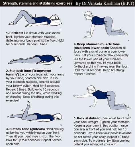 exercises for lower back of back exercises and physical therapy are to reduce back