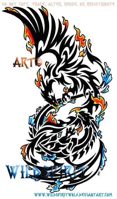 28 best wolf chest tattoo fire phoenix images on pinterest