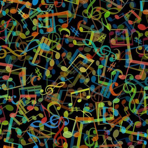 pattern music video dark colourful seamless music pattern stock vector
