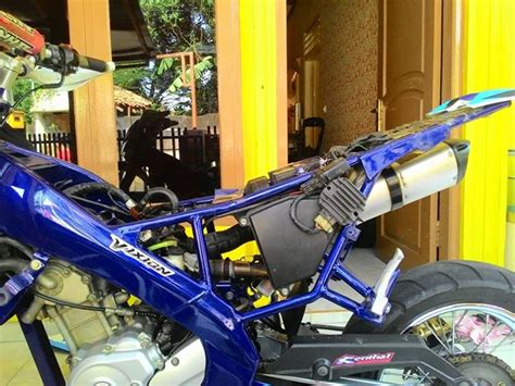 Modifikasi Motor Supermoto by Modifikasi Vixion Jadi Supermoto Atau Trail Terbaru Keren