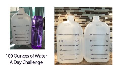 How Many Ounces Of Detox Water A Day by 100 Ounces A Day Water Challenge