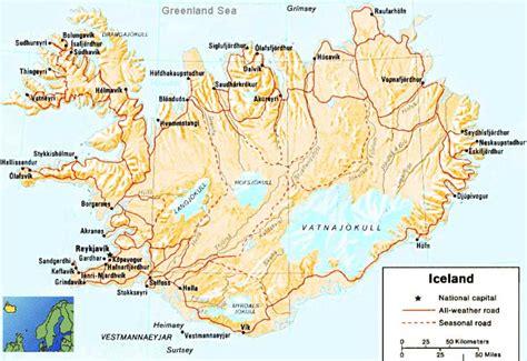 iceland map 1 mapsof net