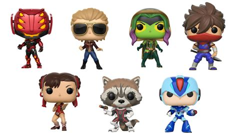 Funko Pop Marvel Vs Capcom Infinite Captain Marvel Vs Chun Li marvel vs capcom infinite funko pops battle it out this fall nerdist