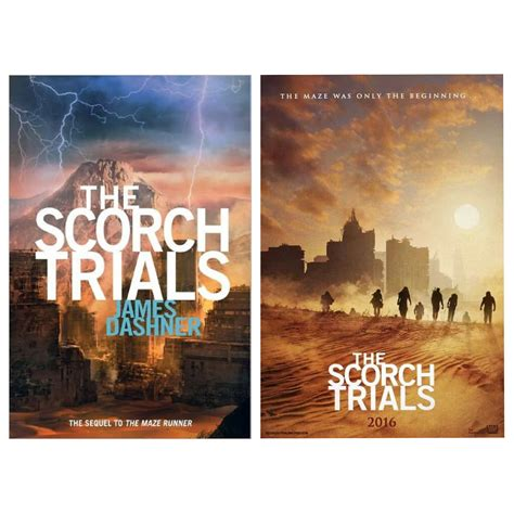 maze runner 2 film vs book the maze runner the scorch trials book movie