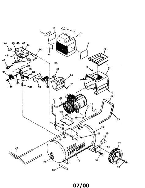 sears craftsman 919 153231 air compressor parts