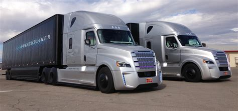 freightliner used trucks behind the wheel of freightliner s inspiration autonomous