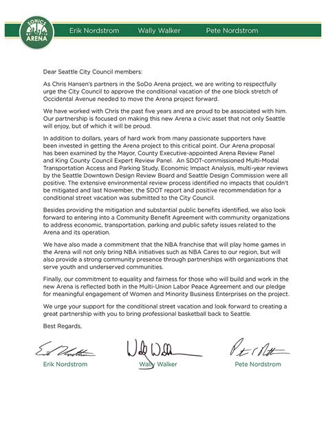 application letter addressed to the city mayor investment team letter to city council urging for