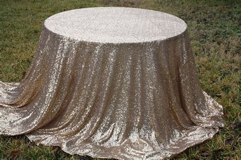 Sequence Table Cloths by Free Shipping Chagne Gold Sequin Metallic Tablecloth