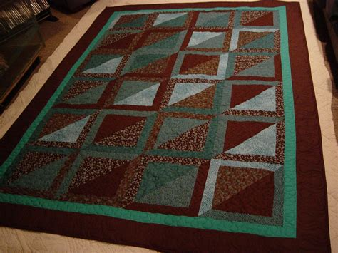 Teal Quilts by Update On Brown And Teal Quilt