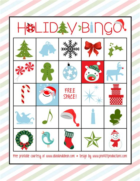 printable holiday bingo games holiday bingo set free printable