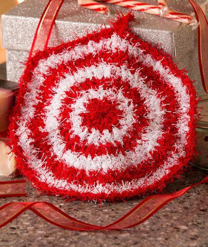 swirl scrubby free crochet pattern in red heart yarns peppermint scrubby red heart