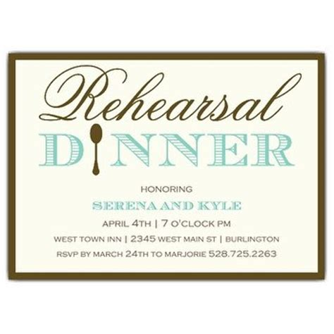 Rehearsal Dinner Invitation Wording Paperstyle Dinner Rsvp Template