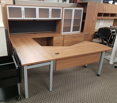 csn office furniture u shaped desk with hutch buy rite business furnishings