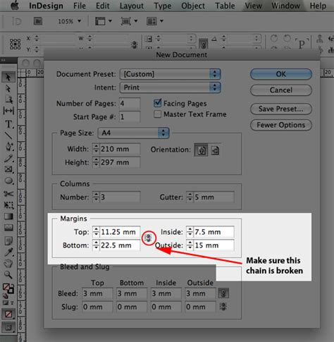 qt designer layout margin quick tip setting margins using indesign