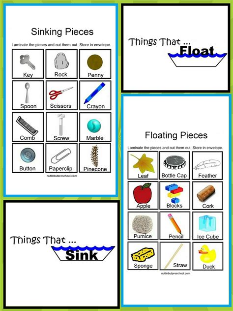 Should Sink Or Float sink and float cards sink floatworksheet 点力图库