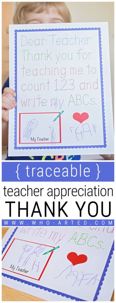 Thank You Letter Header traceable appreciation thank you printable who