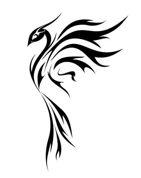 phoenix tattoo elegant elegant girly black ink phoenix bird in profile tattoo
