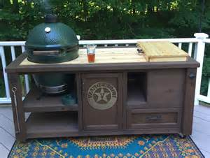 big green egg grill tables for sale