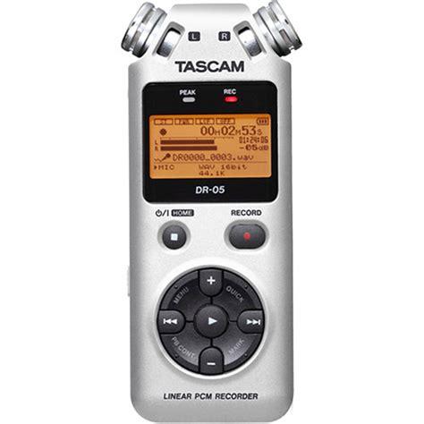 Tascam Dr 05 Handheld Stereo Recorder tascam dr 05 portable handheld digital audio recorder dr05s b h