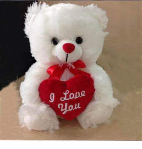 images of love teddy bear plush fluffy white teddy bear red i love you heart love