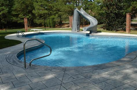 pool designs with slides residential swimming pool slides pool design ideas