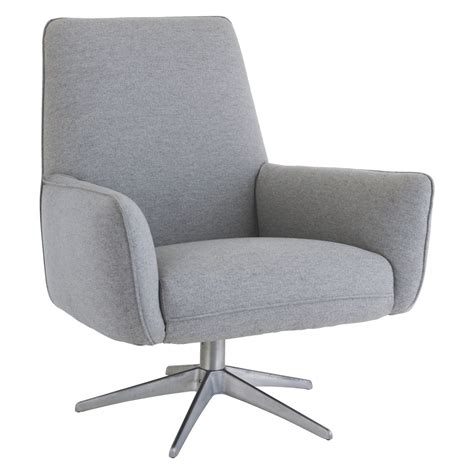 Swivel Armchairs Uk by Toulouse Grey Wool Swivel Armchair Buy Now At Habitat Uk