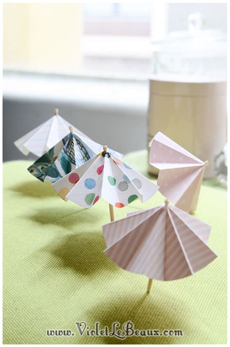 How To Make Paper Umbrellas At Home - how to make paper drink umbrellas violet lebeaux