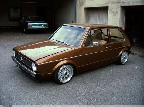 volkswagen brown custom gold mk1 gti vw golfs of the world pinterest