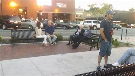 ice house omaha sir paul mccartney and warren buffett caught in bench selfie