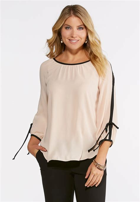 Sleeve Cutout Blouse cutout sleeve top shirts blouses cato fashions