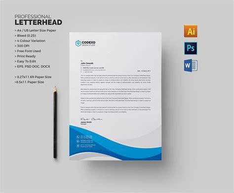 professional letterhead sample template catalog