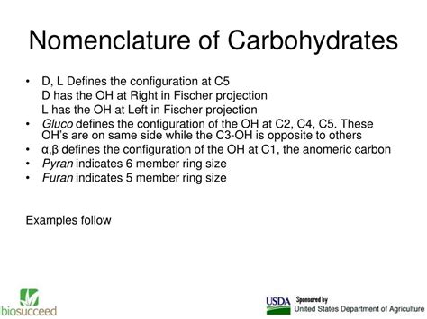 carbohydrates nomenclature ppt lecture 1 methods of carbohydrate analyses