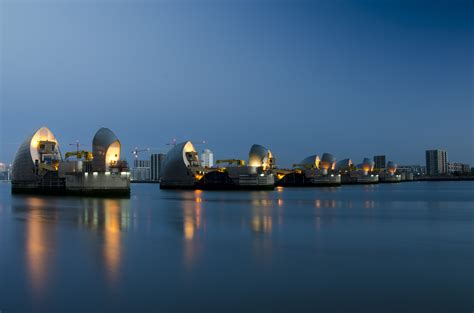thames barrier schools weekly photography challenge blue hour