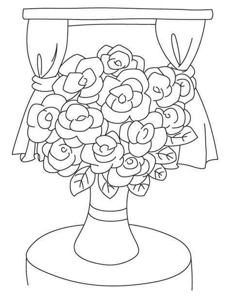 coloring pictures of flowers in a vase gardenia flower vase coloring page free