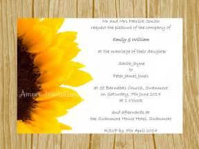 digital wedding invitations templates digital printable a6 sunflower wedding invitation