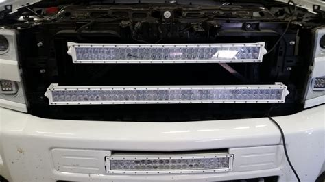 40 inch led light bar behind grille bracket 2015 chevrolet