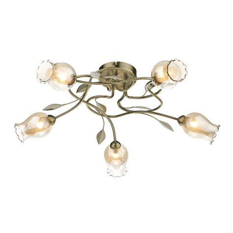 Brass Ceiling Lights Modern Antique Brass Flush Ceiling Light Flower Design Modern Design