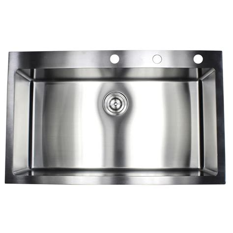 Top Stainless Steel Kitchen Sinks by Drop In Top Mount 16 Stainless Steel 36 In X 22 In