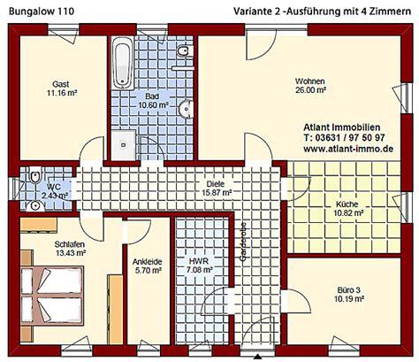 Grundrisse Für Bungalows by Grundriss Deko 110 Be Klicken Sie Auf Den Grundriss F 195 188 R