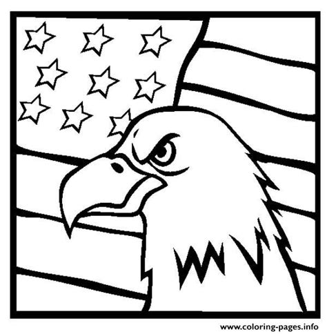 american flag and eagle coloring page american eagle and us flag coloring pages printable