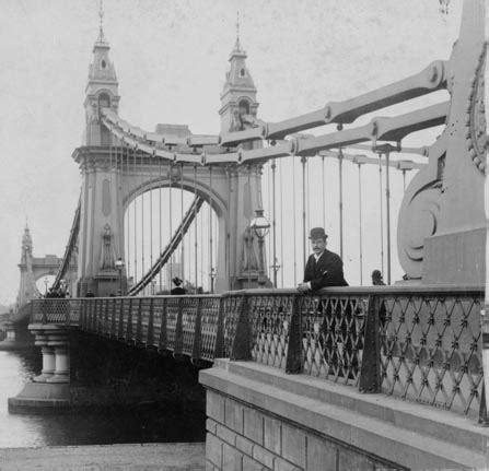 hammersmith bridge, london, 1896