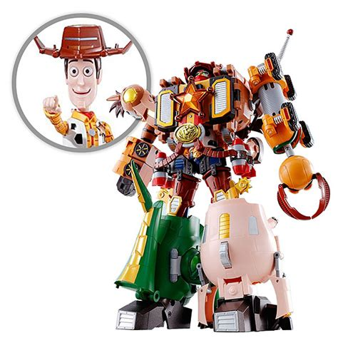 Robot Story 5 Toys Story Sheriff Woody story bandai chogokin combination woody robo sheriff