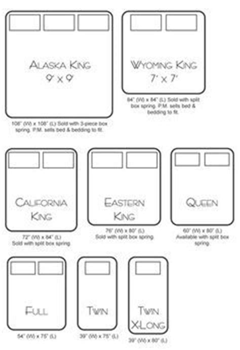 bed sizes chart cm the 25 best ideas about alaskan king bed on pinterest