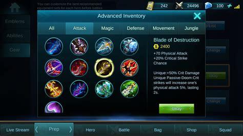 tutorial mobile legend zilong item build hero yun zhao zilong mobile legends tutorial
