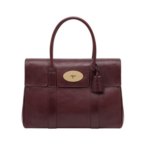 Mulberry Bayswater Handbag by Mulberry Bayswater Leather Bag In Purple Oxblood Lyst