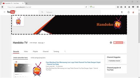 membuat channel youtube cara membuat sul atau header keren dan menarik untuk