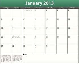calendar template with holidays free printable pdf 2013 calendar