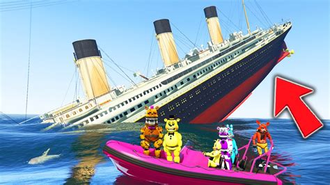 sinking boat gta 5 animatronics vs sinking titanic mod gta 5 mods for kids
